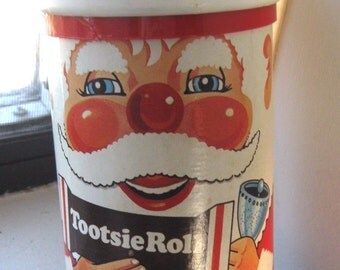 Vintage Santa Claus Tootsie Roll Container