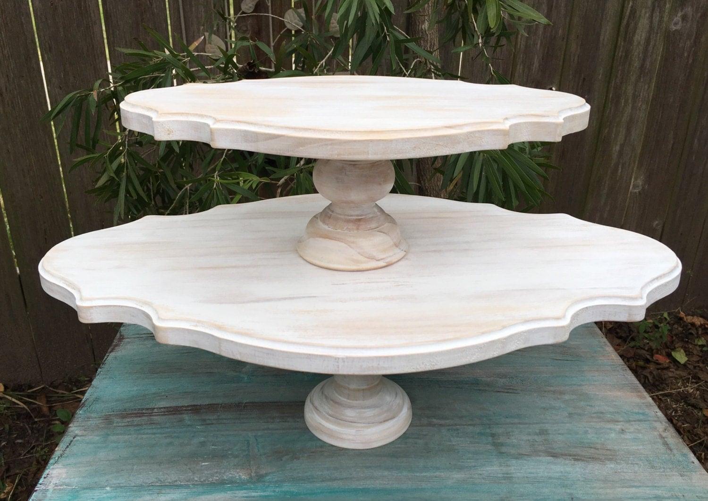 large 2 tier cake stand cupcake stand pedestal cake stand. Black Bedroom Furniture Sets. Home Design Ideas