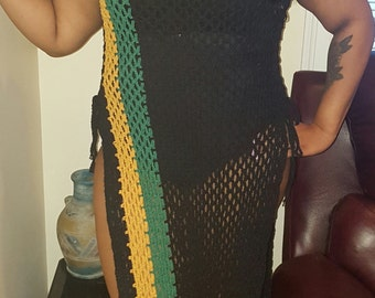 Jamaican crochet cover up