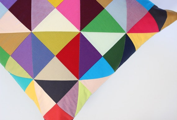 Quilted Half Square Triangle Pillow