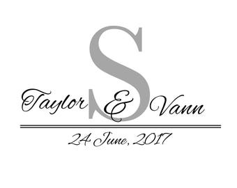 Custom Designed Digital Wedding Monogram Design, Wedding Logo, Digital Gobo, Digital Wedding Monogram Printable, Logo Design for your Event