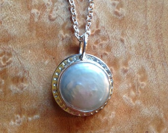 Fresh Water Pearl Necklace in Sterling Silver