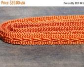 SALE (ends 14th) Obijime. Japanese Cord for Tying Obi. Woven Silk Tie Belt. Orange Rust  (Ref: 949)