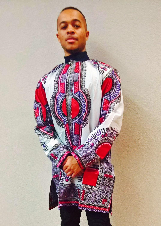 African clothing White Dashiki For Men's African dashiki