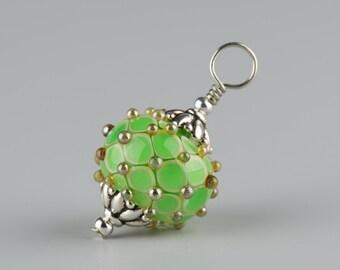 Mint Green Byzantine Pendant