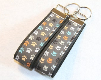 Key fob, Key chain, Wristlet - Paw Prints - Select One