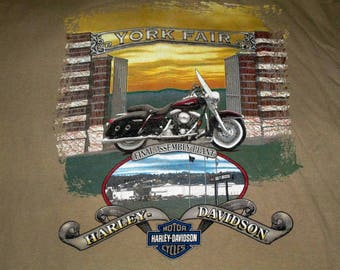 Harley Davidson 1997 Open House York PA shirt large motorcycle Pennsylvania