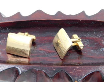 Vintage Gold Filled Anson Mid Century Rectangle Cufflinks