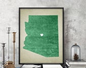 Arizona | State Map Print, State Map Art, State Map, Map Art, Map for Home, Anniversary Gift, Birthday Gift, Wedding Gift, State Map Poster