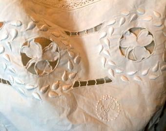 Vintage edwardian camisole 1900s 1910s corset cover monogrammed Rose