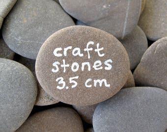 Craft Rocks Flat Beach Stones Craft Stones Art Rocks Stones to Paint Alphabet Rocks - SMALL FLAT STONES 3.5 cm