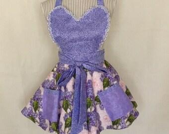 Lilac hostess apron