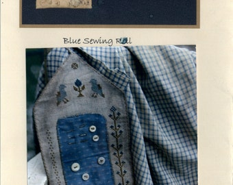 Stacy Nash Primitives: Blue Sewing Roll - Cross Stitch Pattern