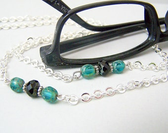 Turquoise Eyeglass Chain, Womens Eyeglass Chain For Glasses, 28 inches Eyeglass Necklace by Eyewearglamour
