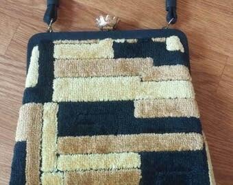 Carpet Bag Velour Mod Handbag