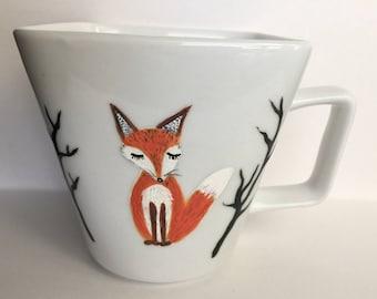 Fox Coffee Mug - whimsical fox mug - fox decor - for fox sake - fantastic mr. fox - woodland - red fox - fox art - coffee gifts