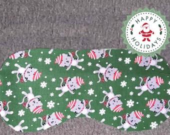 Christmas Kitty Sleep Masks, Holiday Eye Masks, for Naptime and Sleep