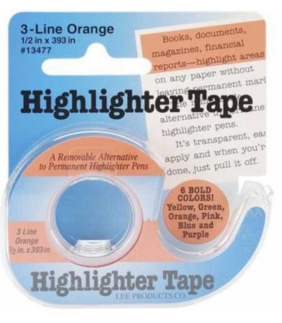 Highlighter Tape : Removeable cross stitch tool embroidery knitting crochet organization sewing punto croce de cruz point de croix