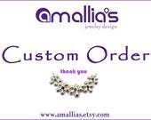 Custom Order for TOVA Hamsa Stud  Earring -Eco Friendly Sterling Silver Hamsa Earrings with Garnet -  Handmade Jewelry