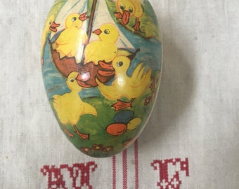 Vintage German Duck Paper Mache Easter Egg