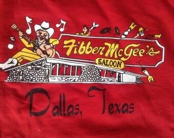 Vintage Fibber McGee's Saloon Dallas Texas sweatshirt XL