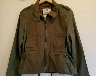 Precious army green zip jacket