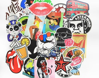 50 PCS Random Mixed Matte Laptop Skateboard Guitar Decoration Graffiti Stickers Pack Lot 50 pieces
