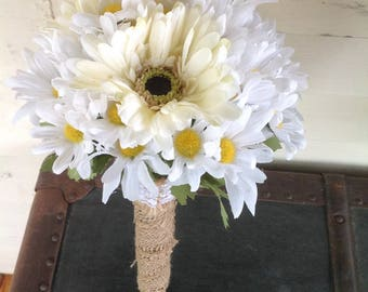 Daisy wedding package, country wedding package, rustic wedding package, fsusg bouquet, daisy wedding, country chic wedging