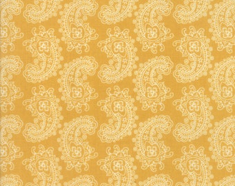 Spellbound Paisley in Sunset Yellow,  Urban Chiks, 100% Cotton, Moda Fabrics, 31113 13