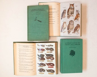 Vintage Hardcover Field Guide Collection