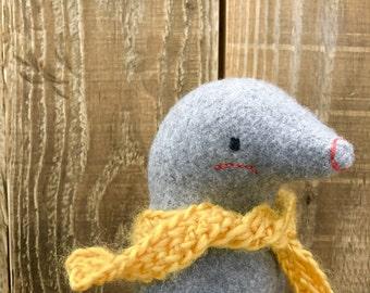 Dorian the Mole, Organic Stuffed Animal Plushie