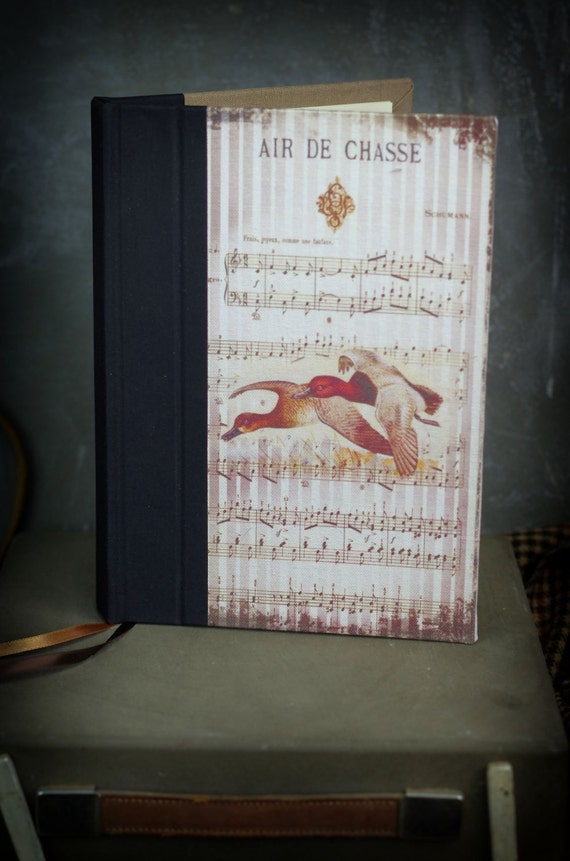 Saint Valentin Hunting venery book very nice journal write in French  vintage pictures Duck Fuligule Malouin