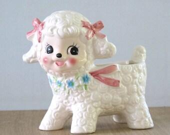 Vintage Reubens Little Baby Girl Lamb Planter