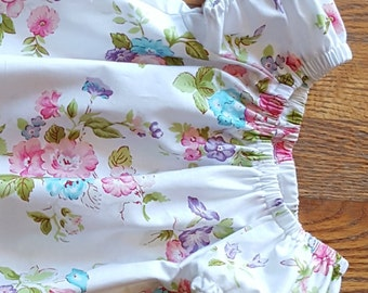 Girl's Infants Toddlers Vintage Inspired Floral Peasant Dress