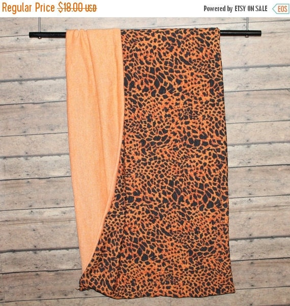 "Orange and Black Sweater Knit Scarf,Animal Print Scarf,Infinity Scarf,Loop Scarf,Men's Scarf,Women's Scarf,Reversible Scarf,11.5"" x 60"" W"
