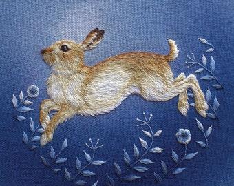 Winter Mountain Hare Greetings Card
