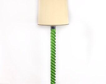 Retro enamel and chrome floor lamp 70s floor lamp retro floor lamp