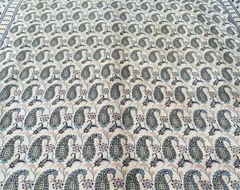 Vintage 1970u0027s Handmade Persian Wool Kashan Paisley Buta Boteh Collectible  Heirloom Oriental Area Rug 10x13