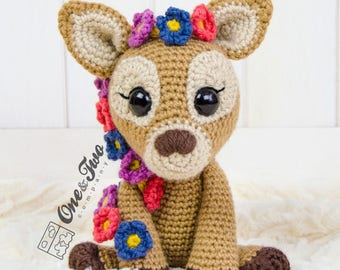 Meadow the Sweet Fawn Amigurumi - PDF Crochet Pattern - Instant Download - Amigurumi crochet Cuddy Stuff Plush