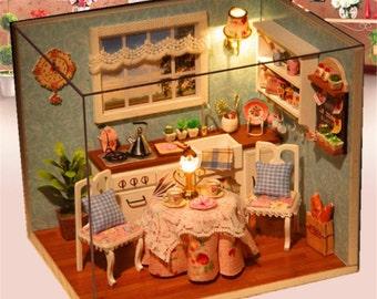3D Wooden Kitchen Dollhouse