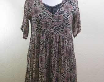 Vintage Dress, 90s Dress, Vintage Starina, Grunge Babydoll, Vintage Babydoll Dress, 1990s Fashion, Nostalgia Dress, Rayon Babydoll, Layered