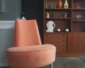 Vintage 1950s Mid Century Modern French Boudouir Chair