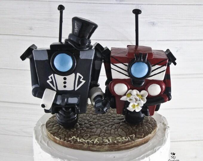 Gentleman Claptrap Borderlands Wedding Cake Topper