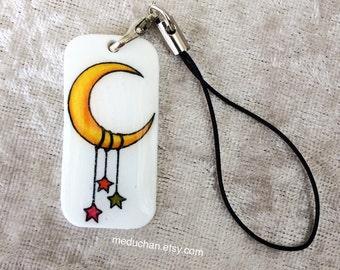 The Moon worh dangle Stars Shrink plastic phone charm
