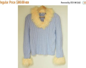 SALE MOSCHINO Angora Sweater Cheap&Chic VTG 90's cable knit sweater