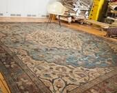 RESERVED 10x12.5 Vintage Distressed Tabriz Carpet