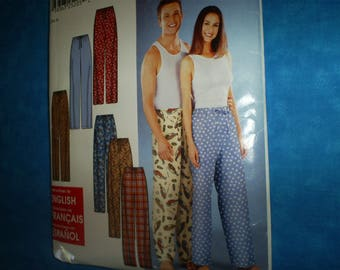 Simplicity  9871Misses, Mens and Teens Lounge Pants.