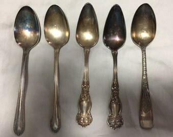 6 silver plated spoons