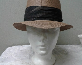 "Vintage Dobbs Fifth Avenue ""Mad Men"" Straw Hat"