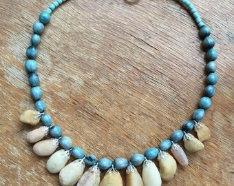 Beach Stone and Job's Tears Necklace